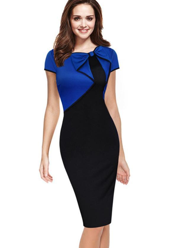 Dual-Colour Dress (Code: E1302)