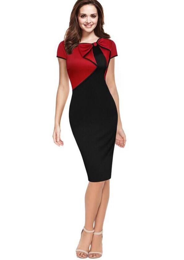 Dual-Colour Dress (Code: E1302)