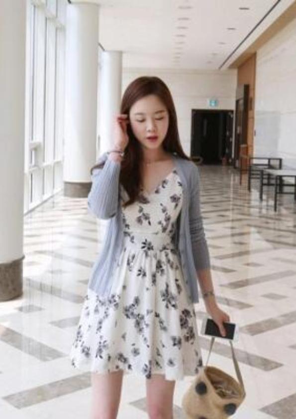 Sleeveless Floral Dress (Code: E4431)