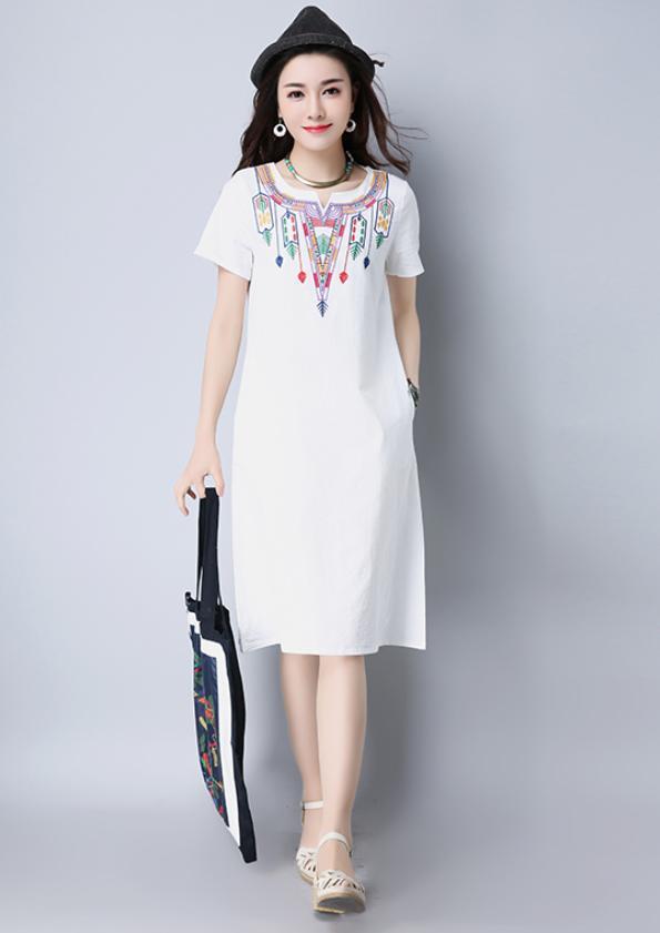 Detailed-Bodice A-Line Dress (Code: E8619)