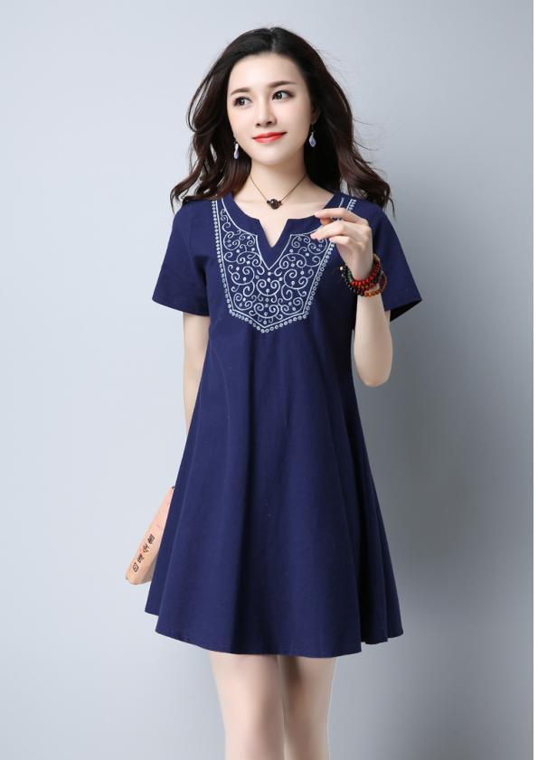Detail-Bodice A-Line Dress (Code: E5201)