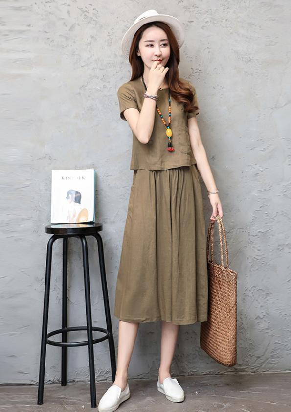 2-Piece Top & Skirt Set (Code: E2080)