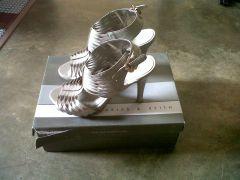 Vincci Grey open toe heels for sale