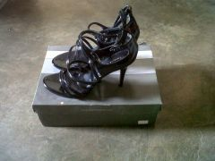 Charles & Keith Black Strappy Heels for sale