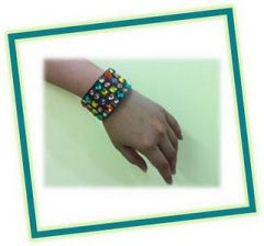 Chic colourful bangle