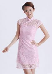 Pink Lace Cheongsam @ RM80/pc