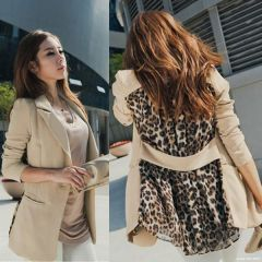 Sexy, Slim, Stylish Leopard Chiffon Blazer coat