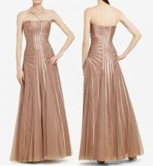 BCBG Max azria magnolia strapless evening gown