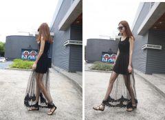 Korean Sheer Lace Dress