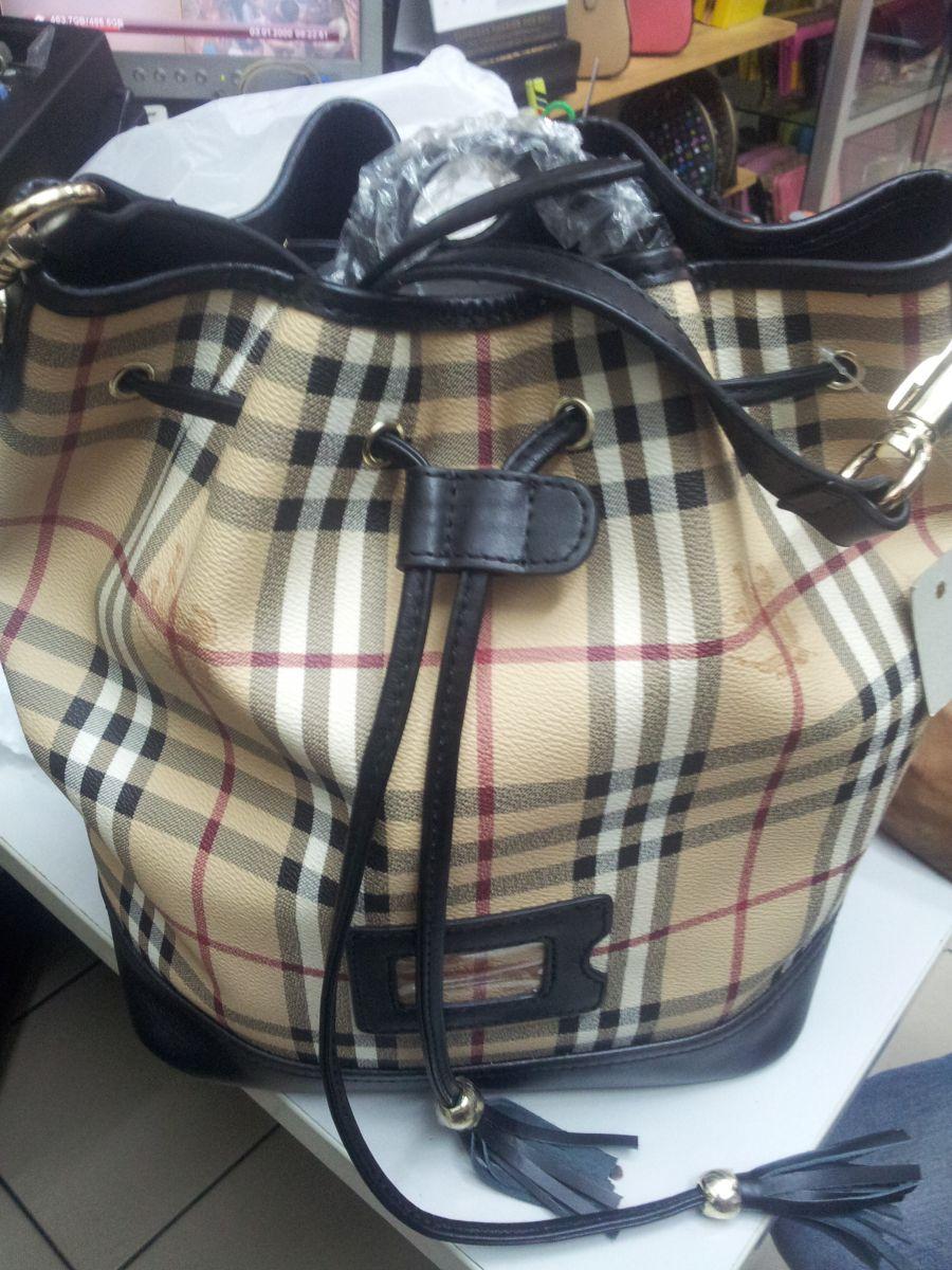 Raya Wholesales Offer: Super Grade 9A++ Burberry Haymarket Bucket Bag 1:1(Korea) Mirror Image