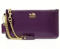 Coach Madison Patent Leather Chain Wristlet