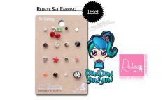[Dun Dun Yun Yun] Redeye Korea Cute Earrings Set