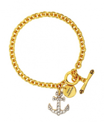 Authentic Juicy Couture Anchor Pave Bracelet with crystals