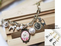 Customised alphabet Bracelet - Little Cat