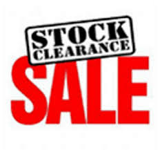 STOCK CLEARANCE SALE!!!