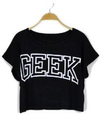 Cropped GEEK shirt