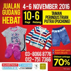 Warehouse Sales 4-6/11/16 Puchong
