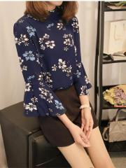 Bell-Sleeves Floral Top (Code: E4413)