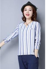 Long-Sleeves Stripe Top (Code: E6106)