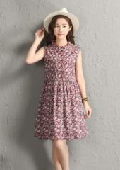 Sleeveless Floral Dress (Code: E2809)