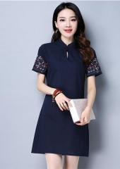 Cheongsam Dress with Detailed Sleeves (Code: E5129)