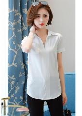 V-Neckline Collared Top (Code: E2030)