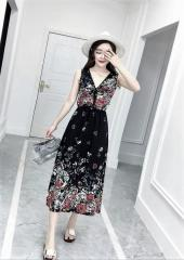 Sleeveless Floral Dress (Code: E3035)