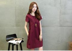 Short Sleeves Casual Dress (Code: E3690)