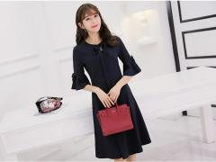 Bell-Sleeves Dress (Code: T4300)