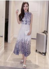 Printed Sleeveless Dress (Code: E1700)